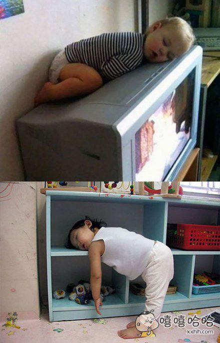 小孩大概是一种无论在哪里、无论以什么姿势、无论之前在干什么…都能睡着的生物