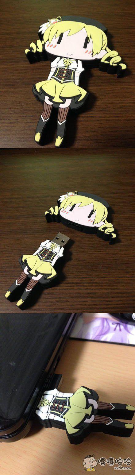 之前在漫展上买了这样的USB,学姐太惨了…