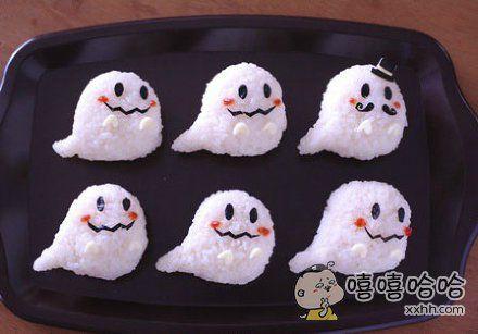 小幽灵造型的饭团,萌cry了!