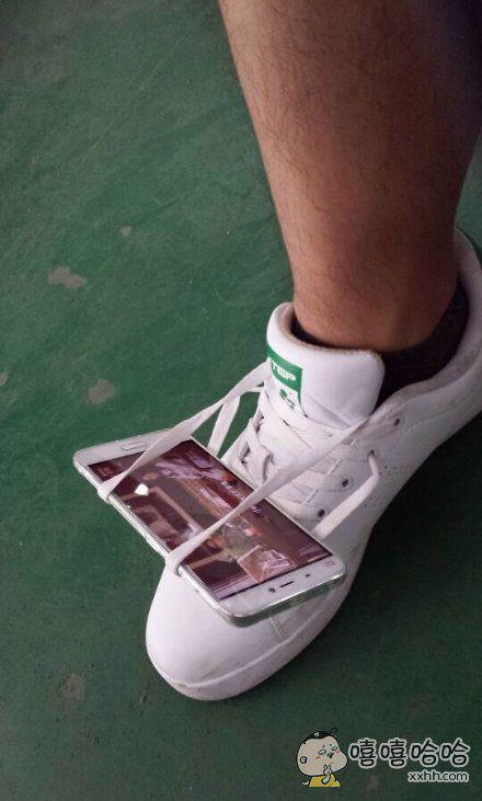 老师他系鞋带系了一天了