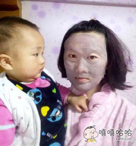 宝宝:老子双下巴都吓出来了