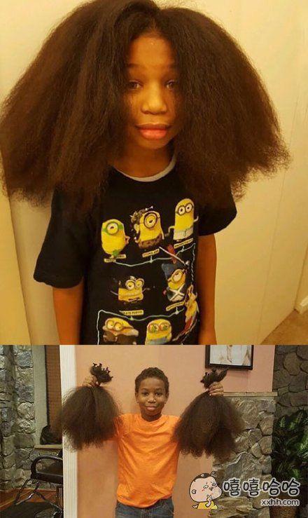 国外一八岁男孩和妈妈在看脸书的时候,看到一个女孩因为癌症而掉了自己心爱的头发。男孩决定,用两年的时间留长头发去给那个女孩做假发。爱心满满,头发也满满。。。