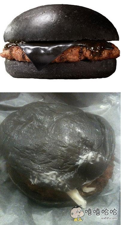 新款黑色汉堡