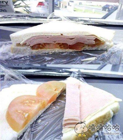 如今的三明治都是酱紫的了,都是良心卖家