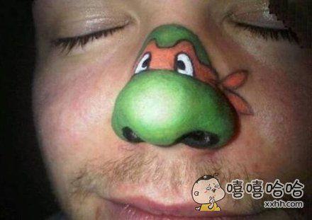 鼻子上有龟…………龟头?