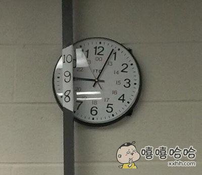 所以到底为什么要把钟挂在这里………………补救方法也是蛮机智的