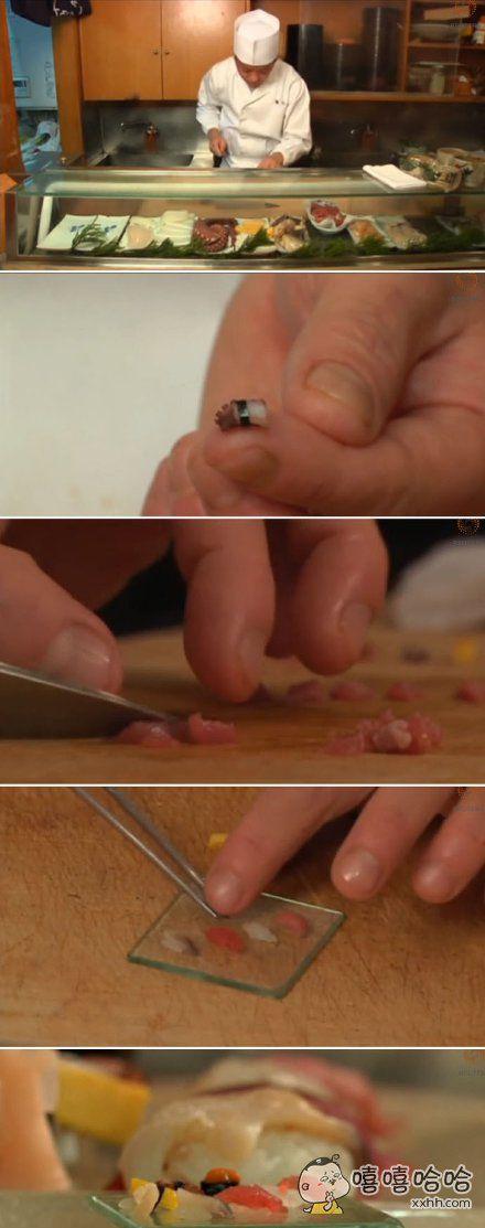 东京有个寿司师傅。10多年来一直卖一粒米做成的寿司。号称一粒流。。。。。点这个的顾客都是什么心态