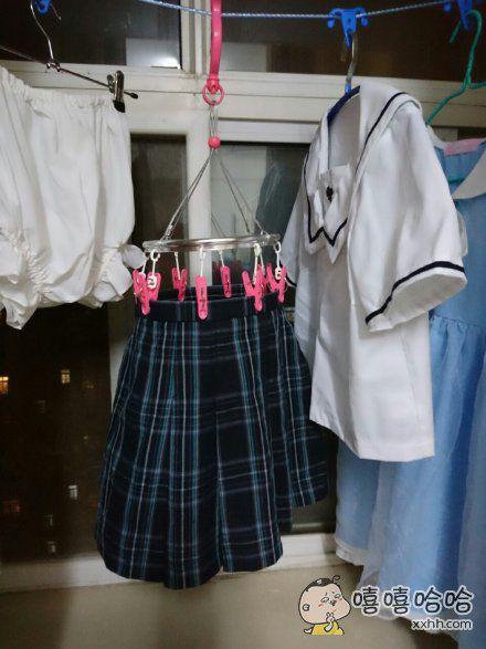 分享一个晾裙子不变形的方法