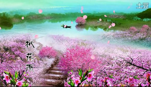 古风桃花手绘唯美图片