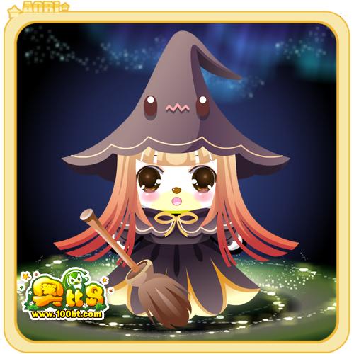 奥比岛调皮万圣巫女装