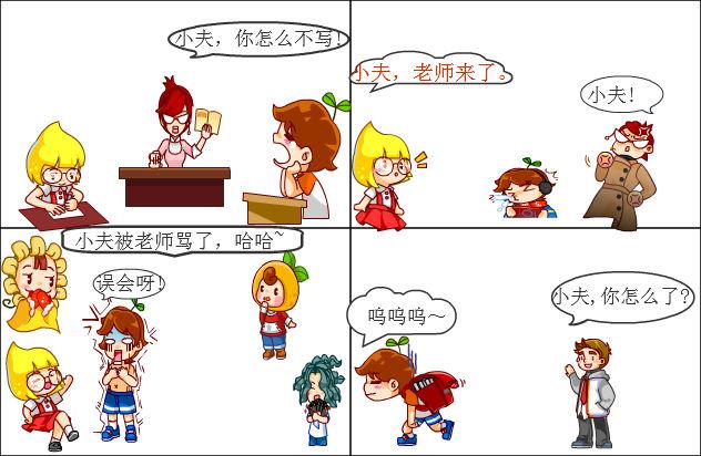 小夫简笔画步骤图