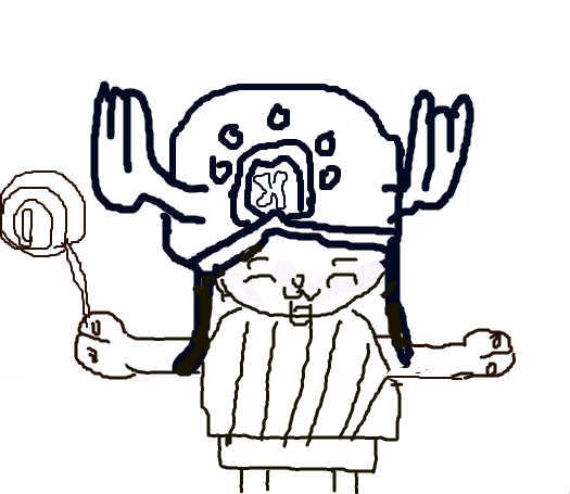 乔巴手绘卡通图片