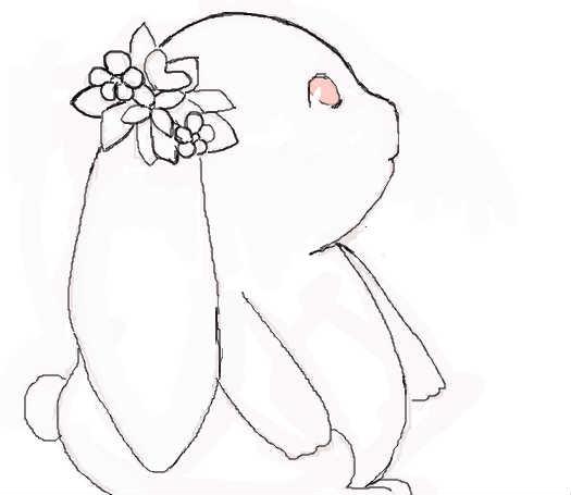 儿童画兔子的画法