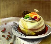 蛋糕的画法