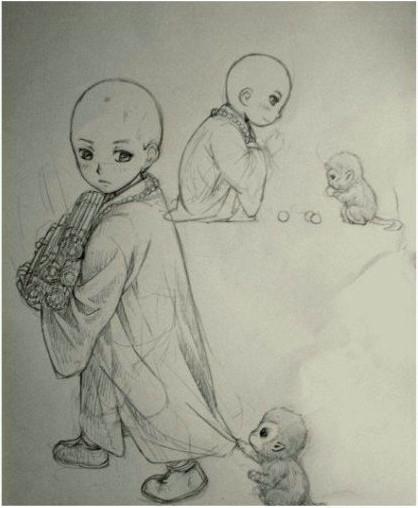 七龙珠简单铅笔画看上去像学生画的展示