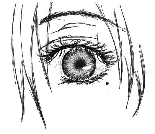 画两双眼睛的步骤图