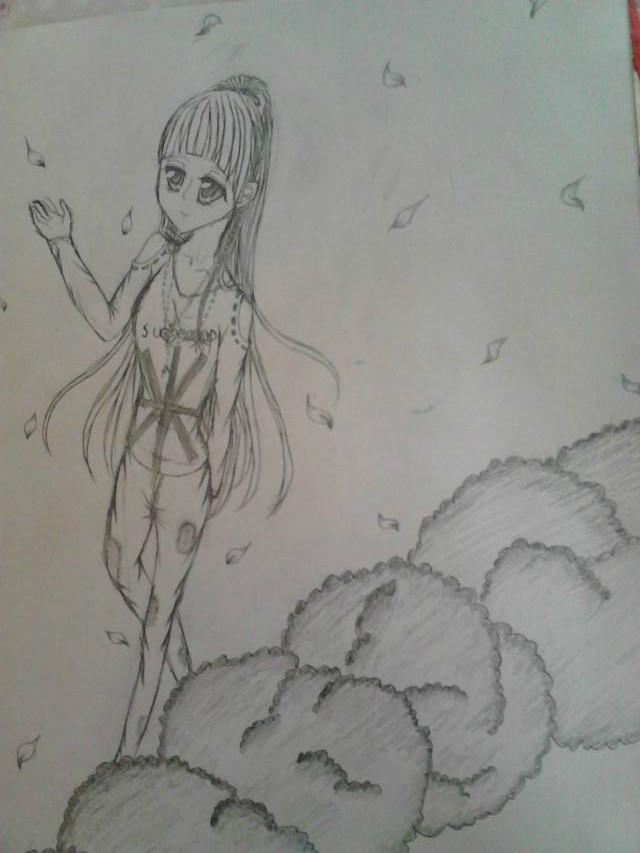 手绘向日葵 铅画