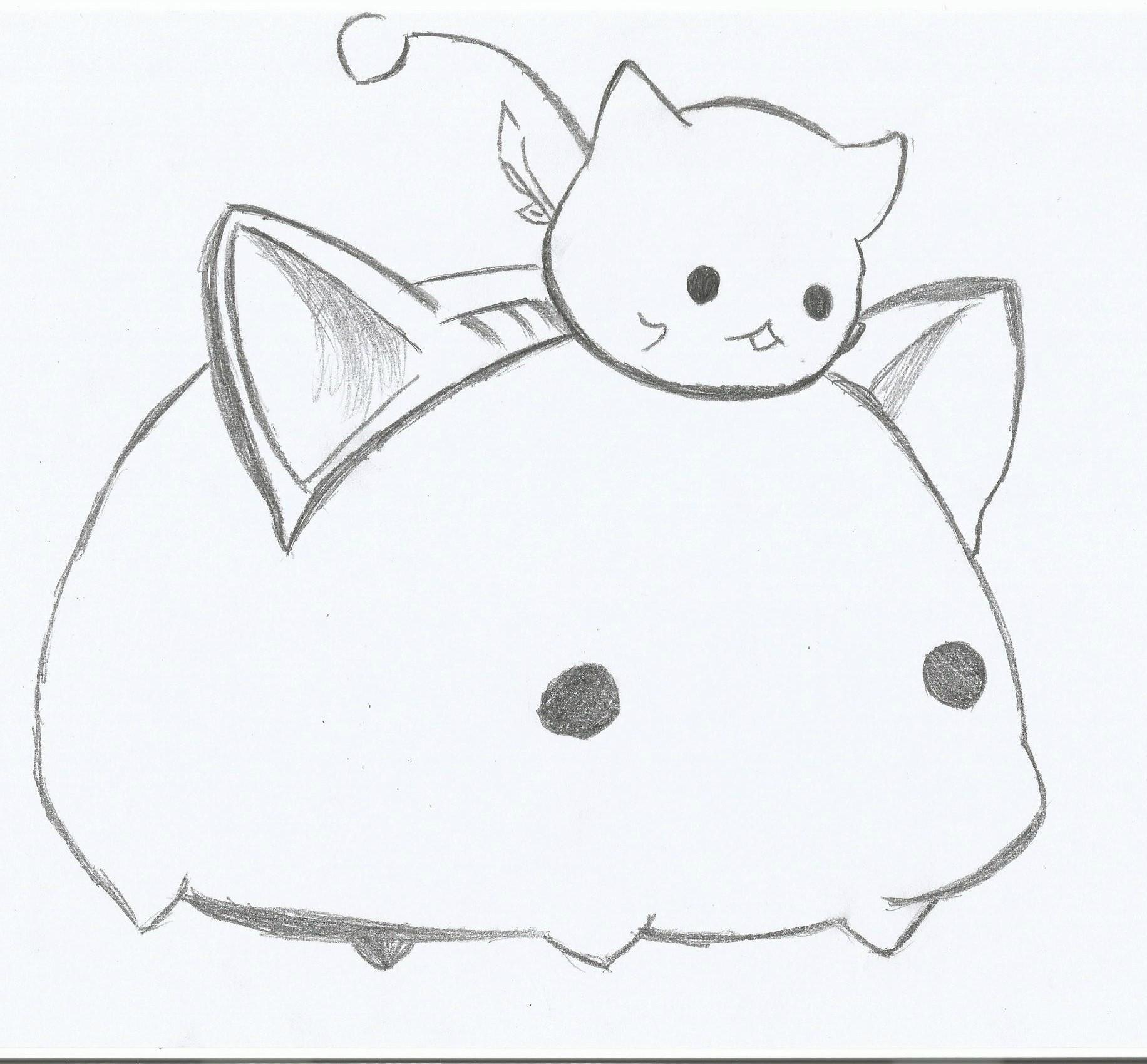 初步手绘 伪猫