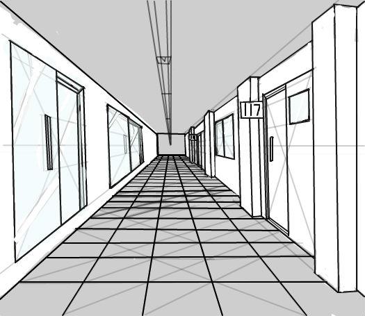 玻璃窗手绘效果图|一点透视图简单图|室内设计一点透视图|一点透视图片