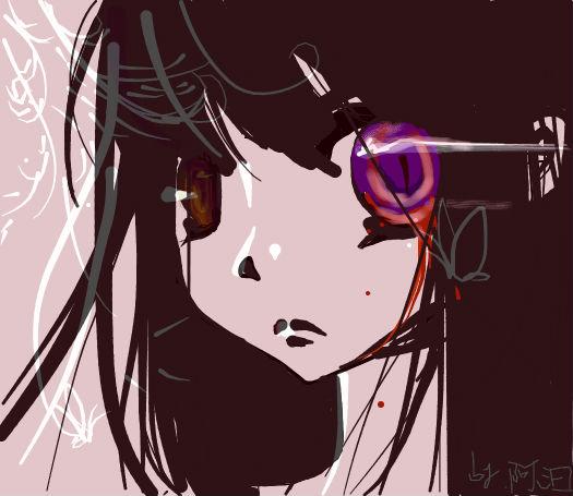 【鼠绘】阿汩原创:黑长直妹子最萌了