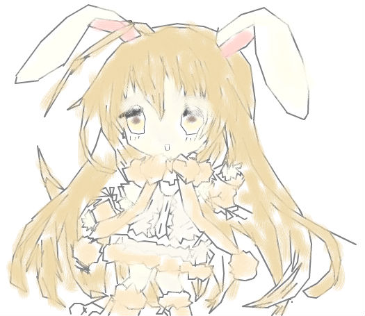 萌萌的小兔子_百田涂鸦板