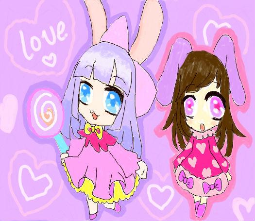 两只小兔子_百田涂鸦板