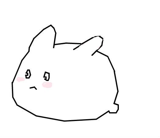 可爱小白兔_百田涂鸦板