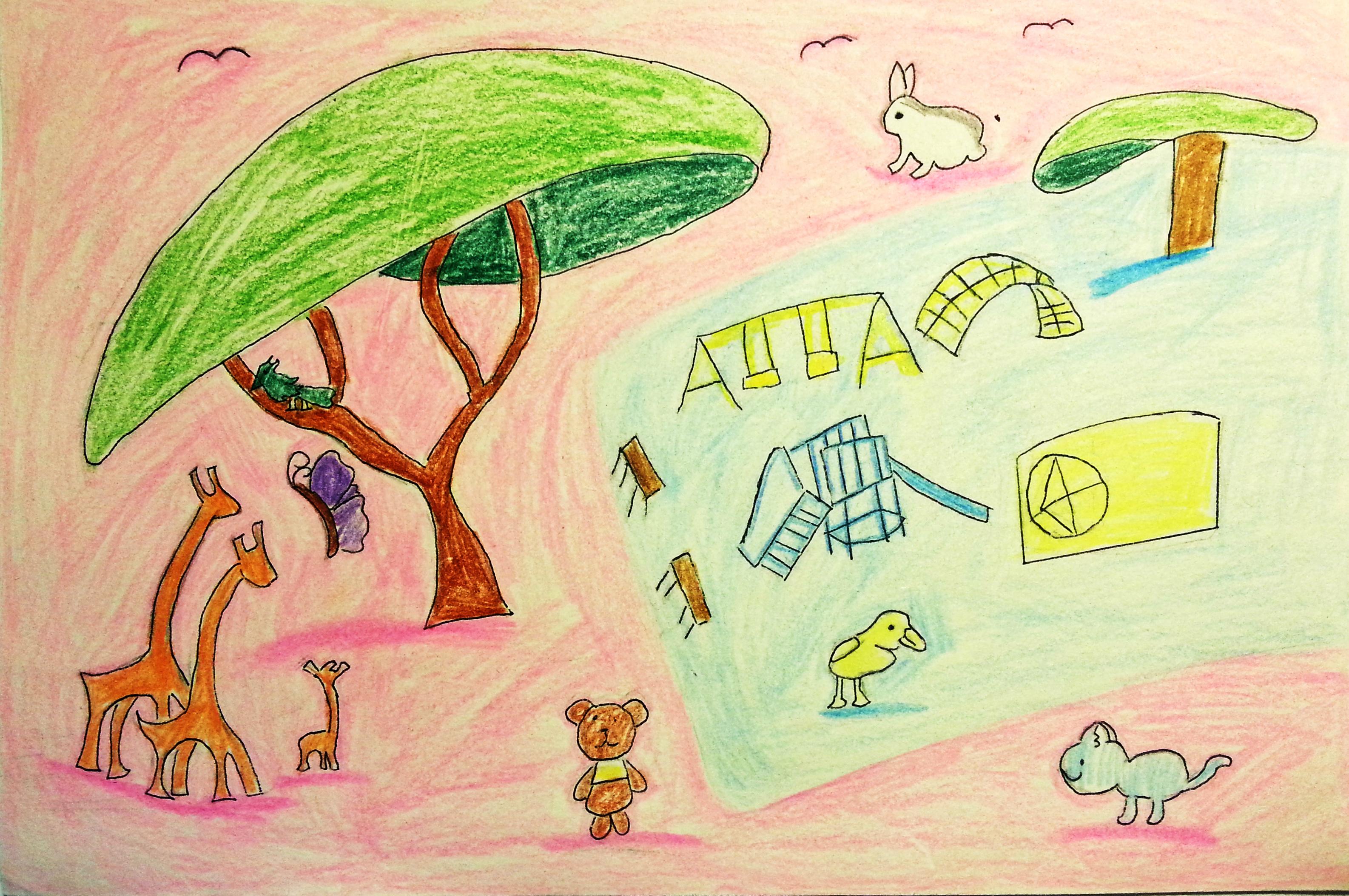 儿童画欣赏:海底世界_儿童画欣赏