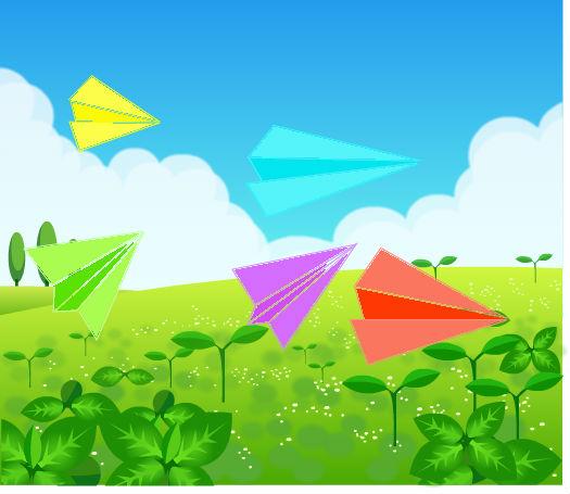 童年的纸飞机_百田涂鸦板
