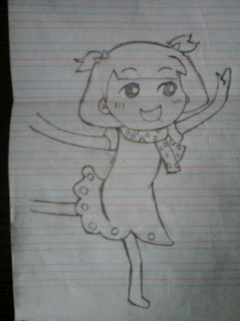 手绘小公主礼服素描图片