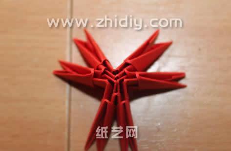 三角插纸折纸蝴蝶图解
