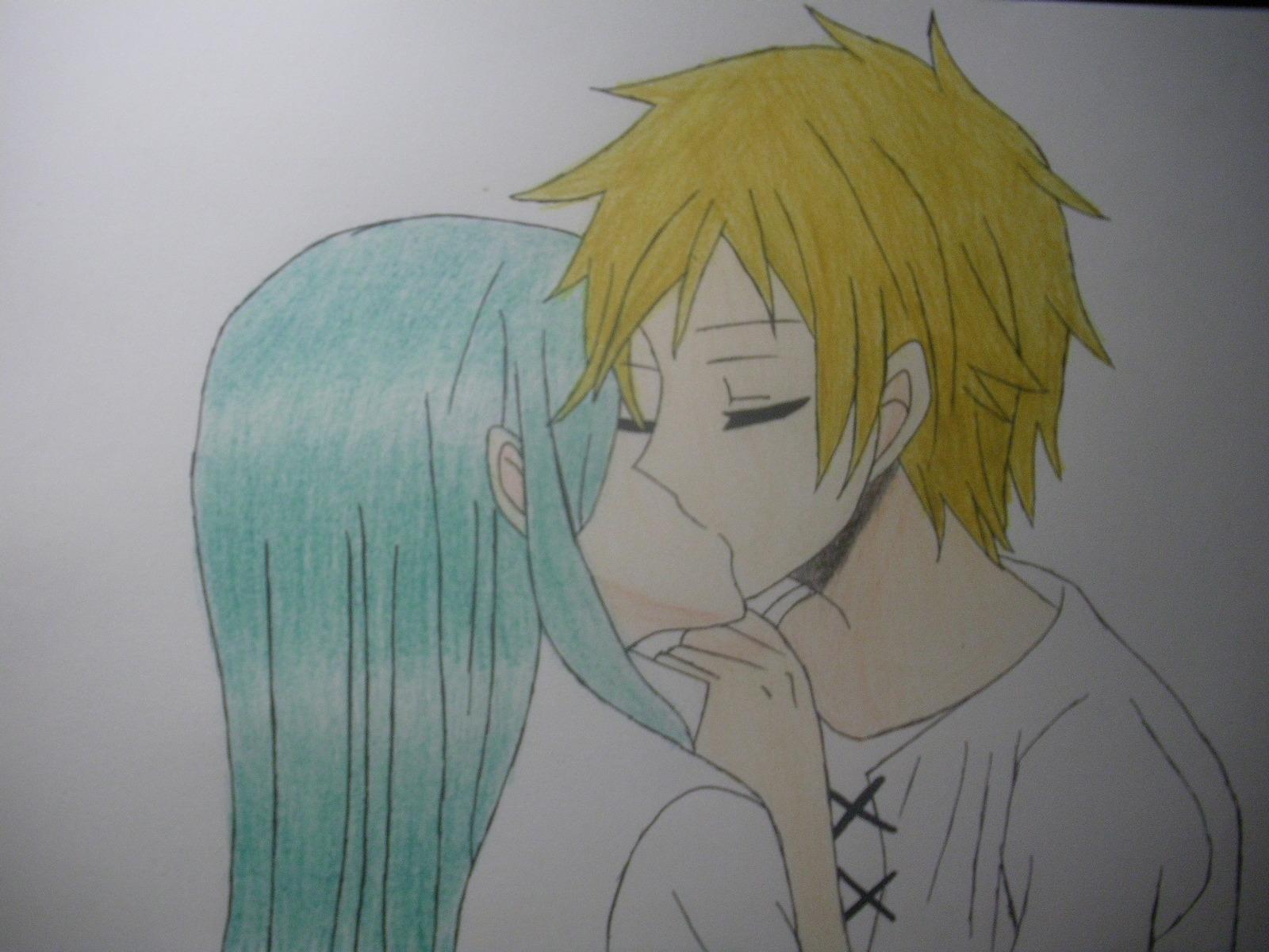 【参赛】手绘kido和kano接吻