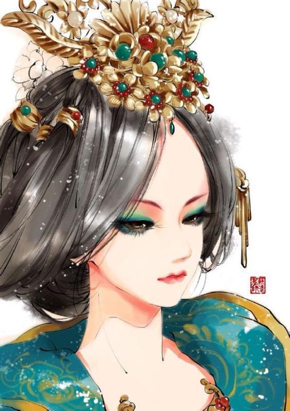 古代美女丹青_奥比岛圈图片