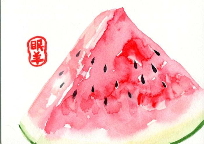 可爱水果西瓜图片萌萌哒