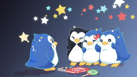 宽屏壁纸 回转企鹅