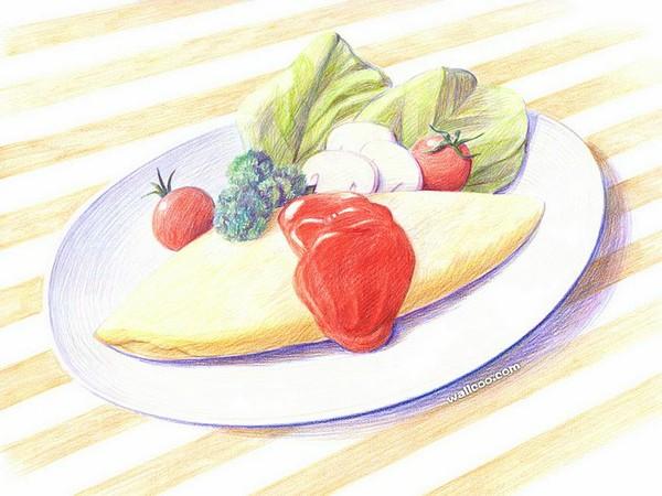 彩铅手绘美食图片大全