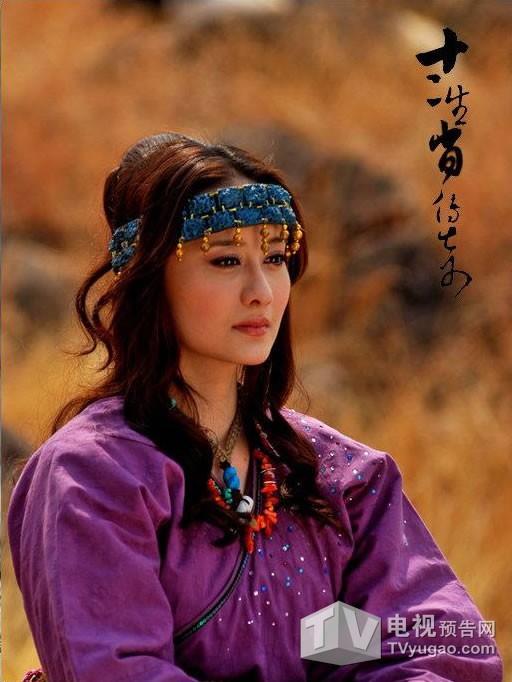《十二生肖传奇》中的芷莘,是生肖羊,生活在草原上,蓝色的额饰显出一图片