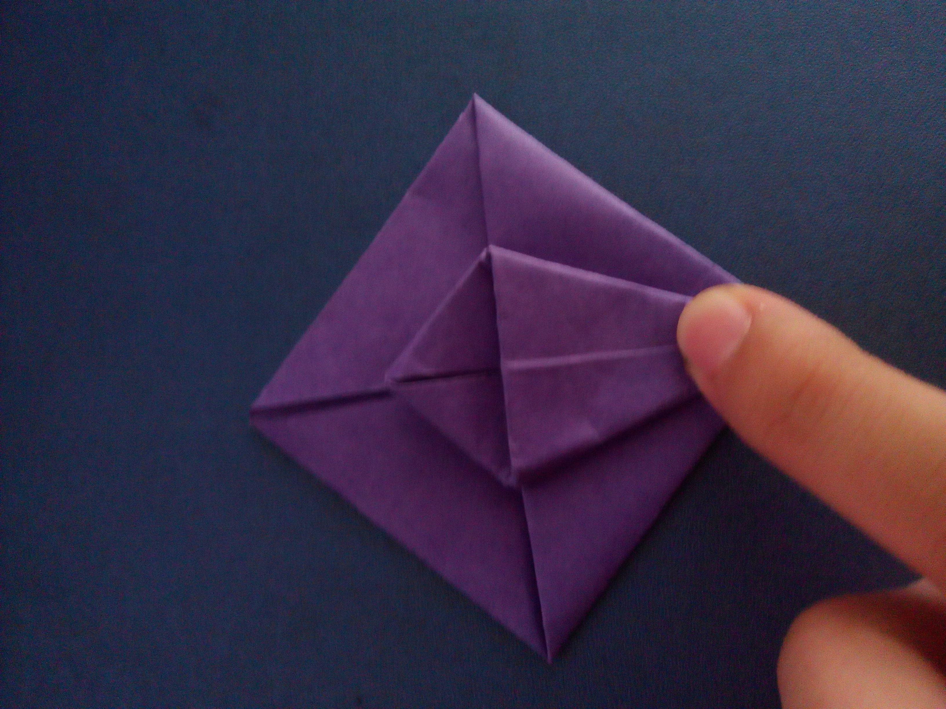 店面手工折纸花步骤图解