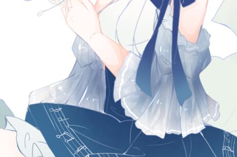 肤色和浅蓝色上去