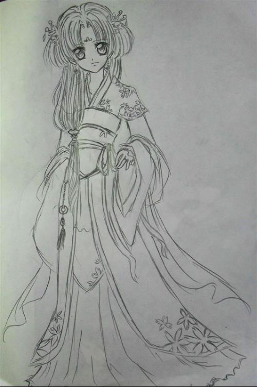 素描画大全 步骤 公主