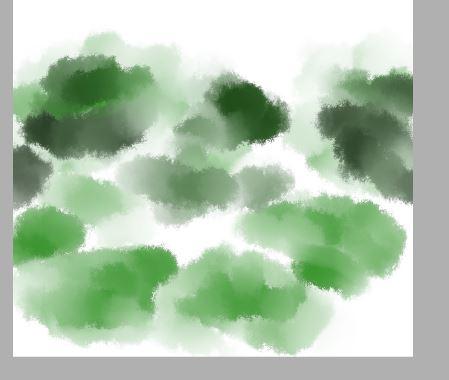 水彩笔画出荷叶,不用力就浅,用力就深在交界处也会变浅,画出意境就够