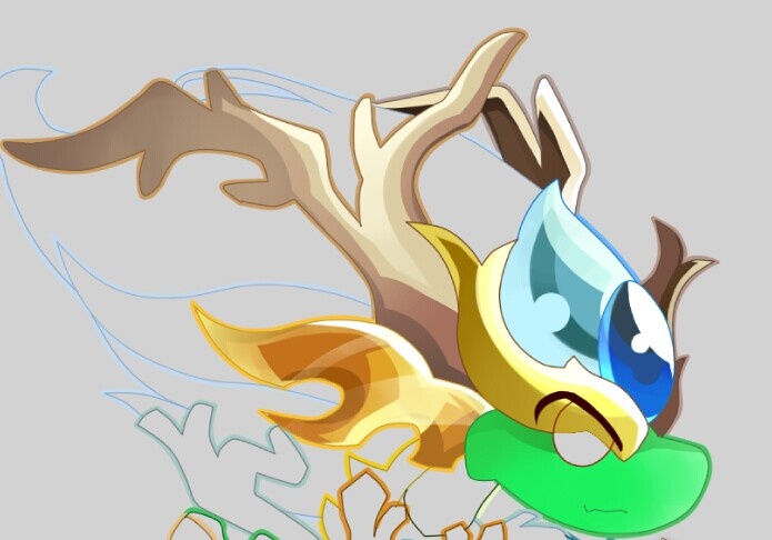 森林系手绘画鹿角