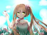 常青藤奥比岛板绘秀作品——花の公主