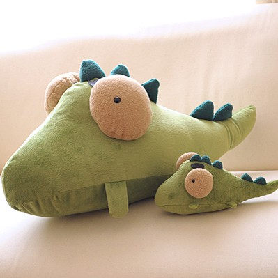 ┏ (゜ω゜)卡通动物毛绒公仔抱枕鳄鱼款