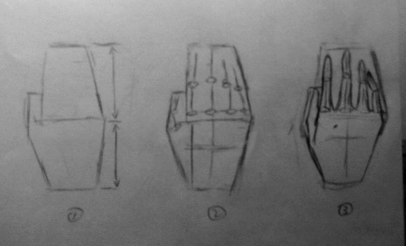 素描画手指步骤