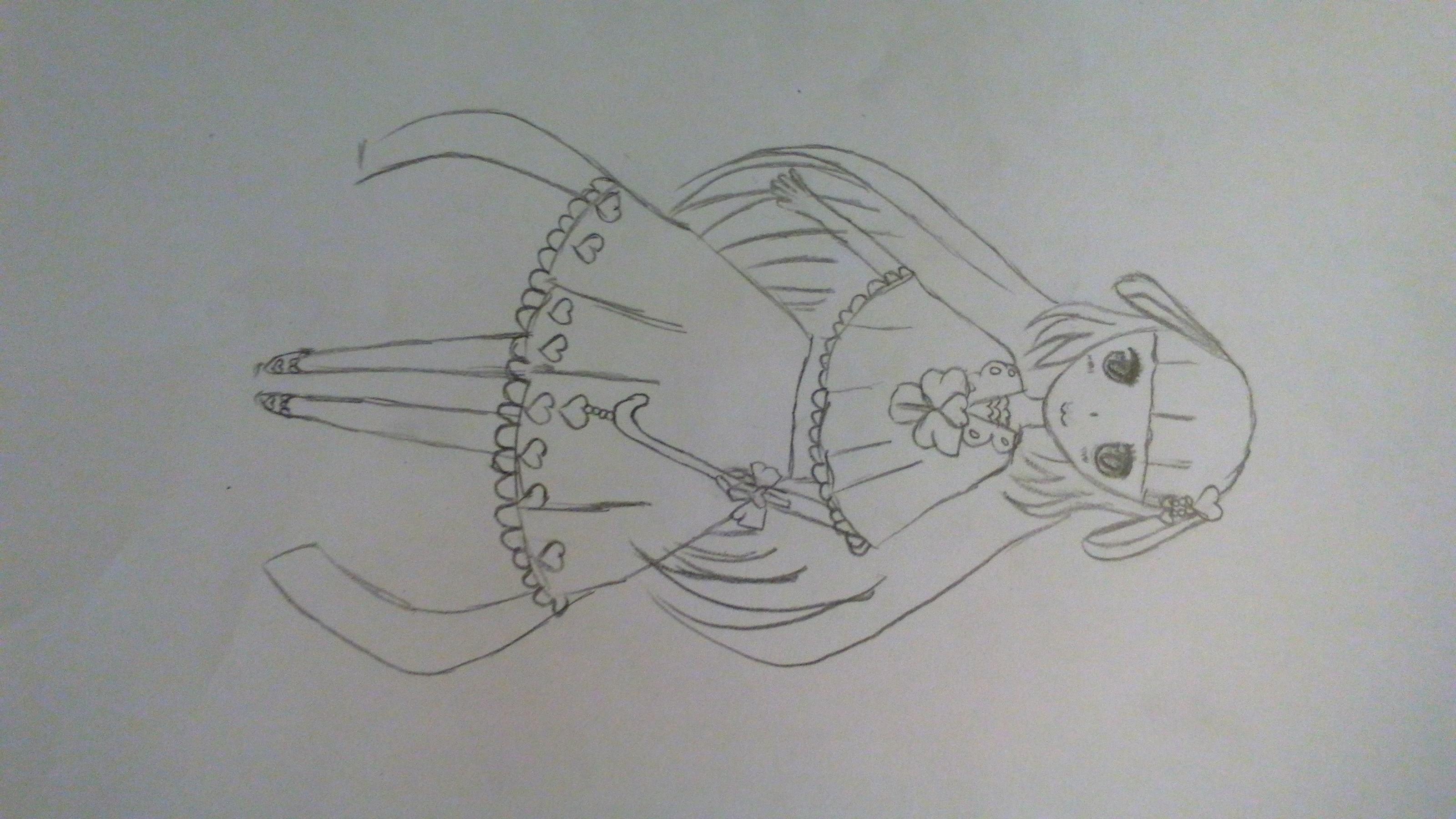 婚纱头纱设计图素描纸展示