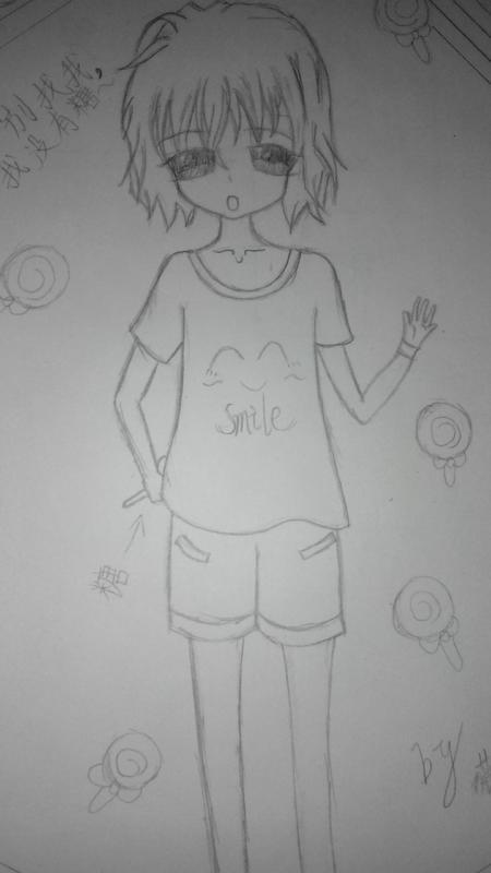 人物简笔画:短发女孩_发型设计