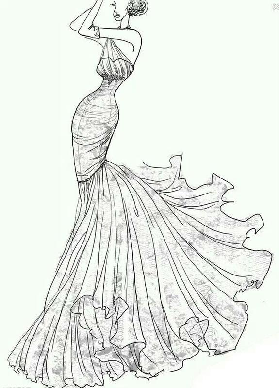【凉宁】美腻的手绘婚纱