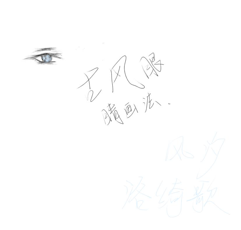 素描手绘画眼睛展示