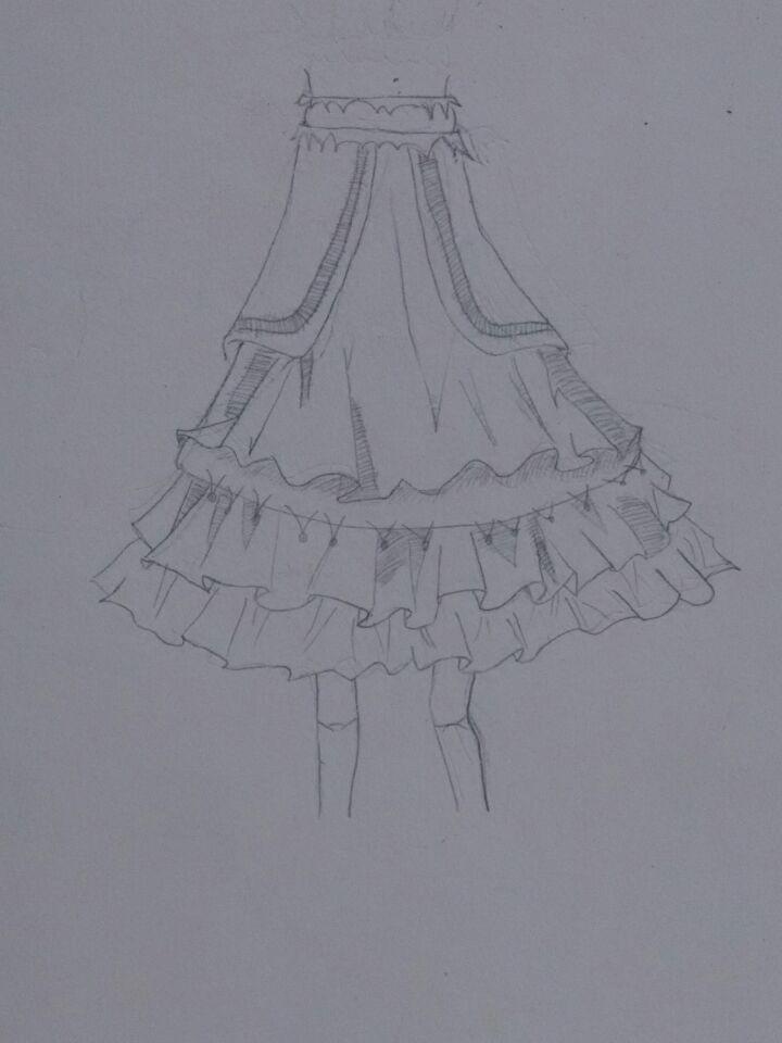 【木槿】教新人如何画裙摆√